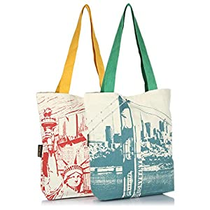 Pack Of 2 Ecru Shopping Bag