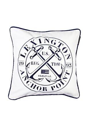 Lexington Company Funda De Cojín Sello Ancla (Blanco)
