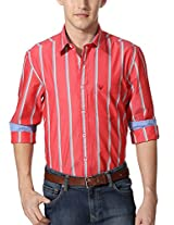 Allen Solly Coral Striped Weekend Shirt