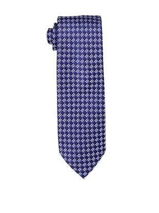 Yves Saint Laurent Men's Checkered Tie, Navy/Blue
