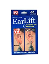 EZ LIFE Ear Lift (Pack of 60) - Patches for Torn & Sagging Earholes