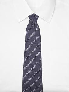 Hermès Men's Cityscape Tie (Gray/Gray)