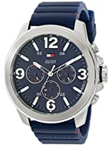 Tommy Hilfiger Men's 1791096 Stainless steel Watch with Blue Band