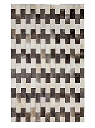 Solo Rugs Natural Cowhide Rug, Multi, 5' x 8'