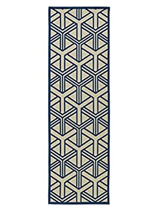 Kaleen Five Seasons Indoor/Outdoor Rug, Navy, 2' 6