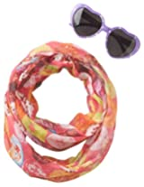Accessories 22 Girls' Donut World Sunglass and Infinity Scarf Set, Multi, One Size