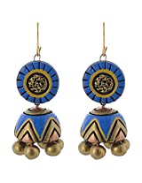 Avarna Enamel Jhumki Earrings for Women (Multi-Colour)