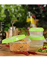 Princeware - Fresh Vent Square set of 3 Containers- Green