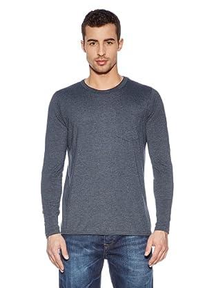 Cross Jeans Camiseta Casual (Gris Marino)