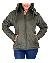 Romano Women's Water Wind Snow Resistant Green Jacket