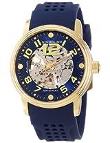Stuhrling Original Men's 1070.3336C6 Classic Delphi Adonis Automatic Skeleton Blue Rubber Strap Watch