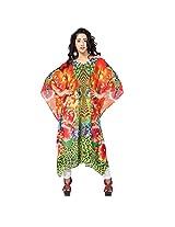 7 Colorslifestyle Multi Coloured Georgette Kaftan