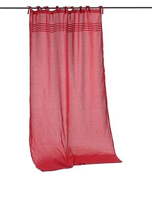 Amadeus Cortina Nudos Rojo 140 x 300 cm Lino Algodón