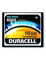 Duracell High Speed 16 GB 600X USB 2.0 Compact Flash Card Card UDMA DU-CF6016G-C