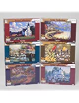 Artist Collection Six Assorted 1000 Pc Puzzles