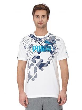 Puma T-Shirt Graphic Story (white-dresden blue)