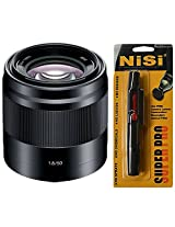 Sony SEL50F18/B 50mm f/1.8 Lens for Sony E Mount Nex Cameras (Black) + Nisi Pro LensPen Lens Cleaner