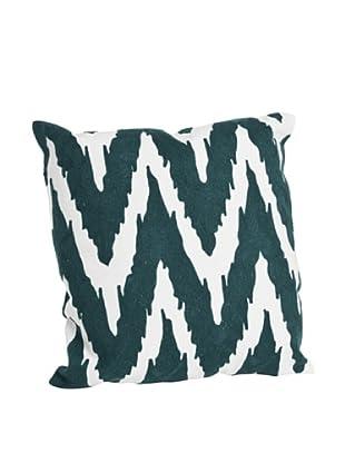 Saro Lifestyle Teal Brasileiro Chevron Square Pillow