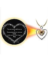 Dijyo Divine Darshan I Love You Silver Pendant (1S28ILY)