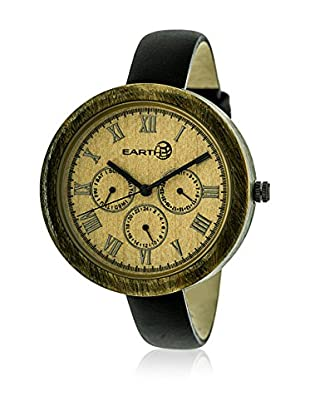 Earth Reloj con movimiento japonés Woman Negro 40 mm