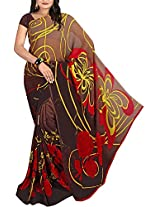 Mansi fashion Women's Chiffon Saree (MF-SR-166, Multicolour)