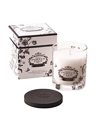 Portus Cale 8-Oz. Black & White Floral Toile Candle In Glass Vessel