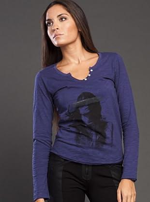 Ikks Camiseta Print (azul marino)