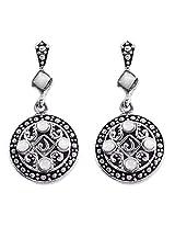 925 Silver Sterling-Silver Dangle & Drop Earring For Women Silver-17117