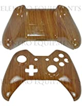 Xbox One Controller Premium Quality Wood Grain Replacement Front Back Shell With T8 Torx Tamper Proof Screwdriver