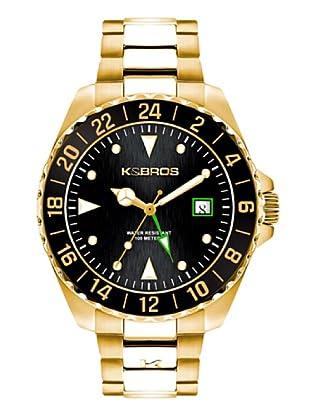K&BROS 9477-1 / Reloj de Caballero  con brazalete metálico Dorado