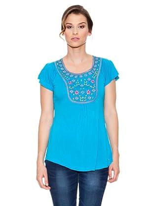 Mahal Camiseta Bordado (Turquesa)