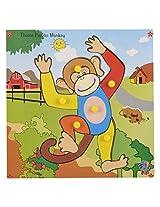 Skillofun Wooden Theme Puzzle Standard Monkey Knobs, Multi Color