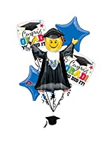 Bright Grad You Did It Balloon Bouquet (Each) Party Supplies