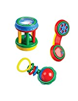 Mee Mee Infant Rattle Set, Multi Color (3 Pieces)