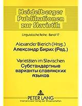 Varietaten Im Slavischen: Ausgewahlte Beitrage (Heidelberger Publikationen Zur Slavistik)
