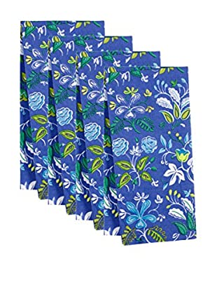 KAF Home Set of 4 Botanical Napkins, Periwinkle