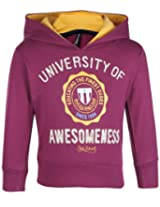 Ollypop Full Sleeves Hooded T Shirt - University Of Awesomeness Print