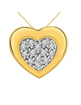 Cygnus Valentine Collection 18k Yellow Gold and Diamond Pendant