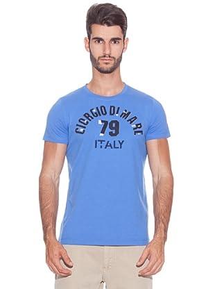 Giorgio Di Mare Camiseta Oxford (Azul)