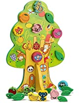Wooden Animal Fruit Beads Lacing Tree Toy for Kids Ages 3+ Years