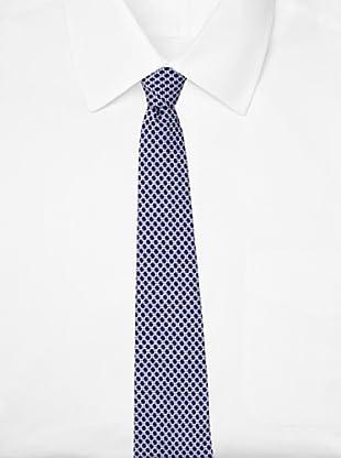 Battistoni Men's Novelty Print Tie, Navy/Light Blue