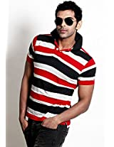 Striped Red Polo T Shirt