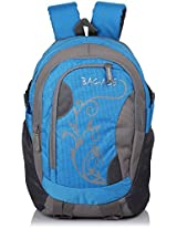 Bag-Age Flower Large School Backpack (Blue)