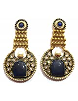 Shingar Ksvk Jewels Antique Polki Earrings danglers For Women (9191-pe-blue)