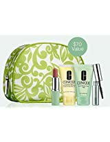 5 Piece 2015 March Clinique Cosmetic Makeup Bag Gift Set