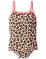 Osh Kosh Baby Girls' Animal Print 1 Piece, Leopard, 12 Months