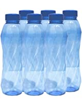 Princeware Pet Fridge Silky Plastic Bottle, Set of 6, 900ml, Dark Blue