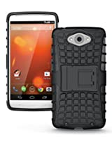 Jkase Diablo Tough Rugged Dual Layer Protection Case With Build In Stand For Motorola Droid Turbo - Black