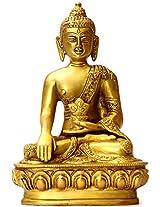 Bhumisparsha Buddha - Brass Statue