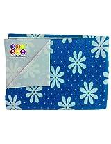 Bey Bee Baby Waterproof Bed Protector Printed Sheet Blue Flower (Single Bed)
